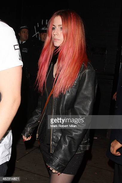 Gemma Styles leaves KoKo after the 5 Seconds of Summer live performance on November 27 2013 in London England