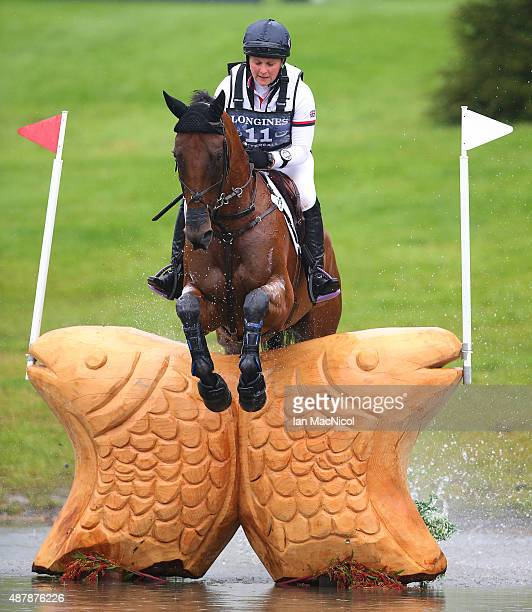 Gemma Tattersall of Great Britain competes on Arctic Soul during the Longines FEI European Eventing Championship 2015 at Blair Castle on September 12...