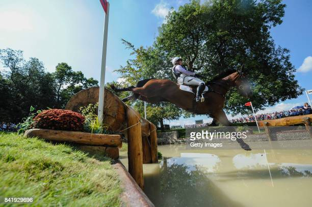 Gemma Tattersall of Great Britain riding Artic Soul in the Cross Country during Day Three of The Land Rover Burghley Horse Trials 2017 on September 2...