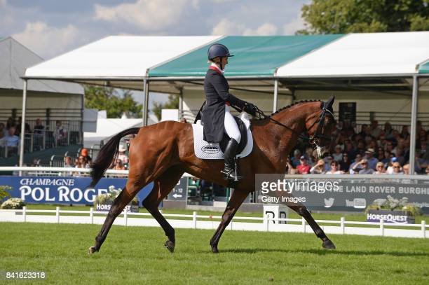 Gemma Tattersall riding Artic in the dressage during Day Two of The Land Rover Burghley Horse Trials 2017 on September 1 2017 in Stamford England