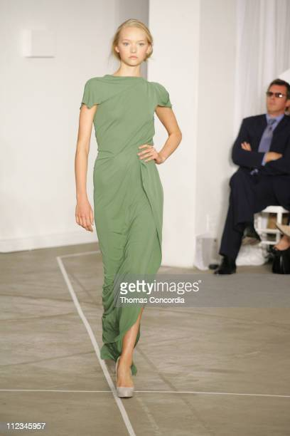 Gemma Ward wearing Roland Mouret Spring 2006 during Olympus Fashion Week Spring 2006 Roland Mouret Runway at To Be Determined in New York City New...