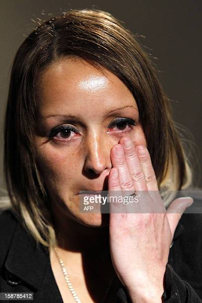 Gemma Wilkinson mother of abducted sixyearold girl Atiya AnjumWilkinson speaks to the media after reuniting with her daughter at Manchester Airport...