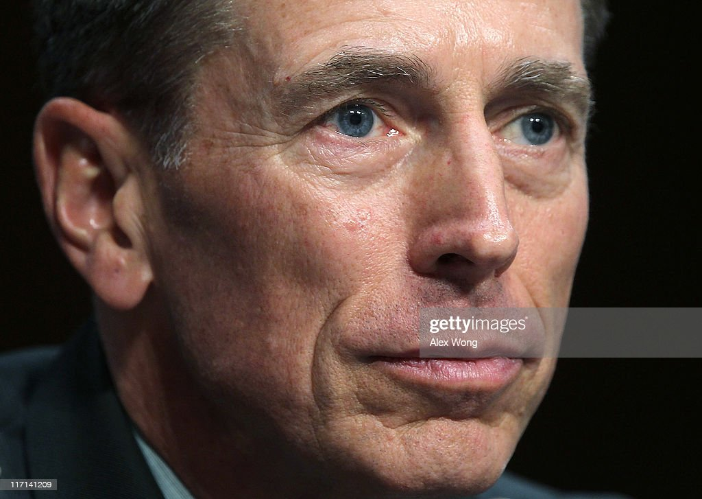 Gen. <a gi-track='captionPersonalityLinkClicked' href=/galleries/search?phrase=David+Petraeus&family=editorial&specificpeople=175826 ng-click='$event.stopPropagation()'>David Petraeus</a> listens during his confirmation hearing before the Senate (Select) Intelligence Committee June 23, 2011 on Capitol Hill in Washington, DC. Gen. Petraeus will become the director of the Central Intelligence Agency if confirmed.