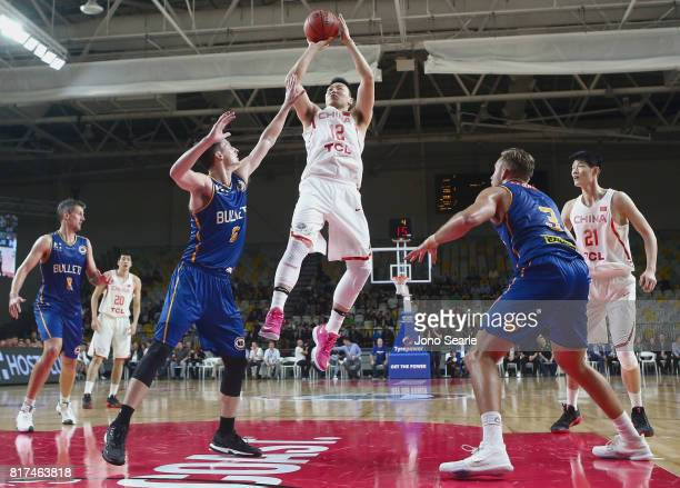Gen Li of China during the match between the Brisbane Bullets and China at the Gold Coast Sports Leisure Centre on July 18 2017 in Gold Coast...