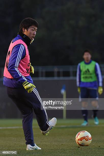 Gen Shoji during the Japanese national team's training session ahead of The AFC Asian Cup at the Narashino Akitsu Soccer Stadium on December 31 2014...