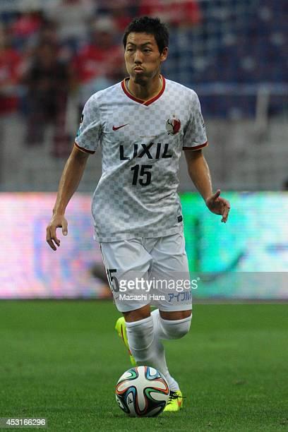 Gen Shoji of Kashima Antlers in action during the J League match between Urawa Red Diamonds and Kashima Antlers at the Saitama Stadium on July 27...
