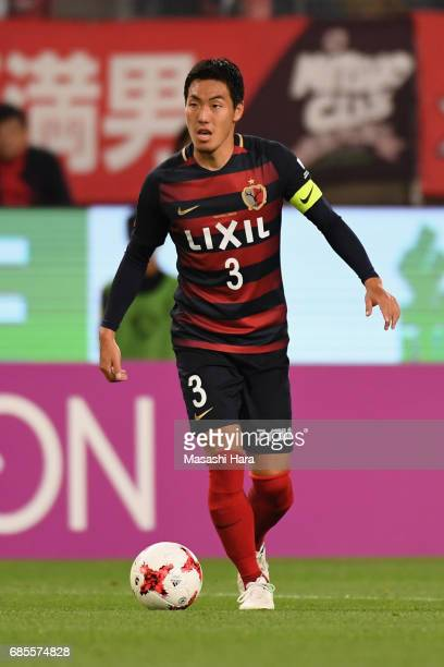 Gen Shoji of Kashima Antlers in action during the JLeague J1 match between Kashima Antlers and Kawasaki Frontale at Kashima Soccer Stadium on May 19...