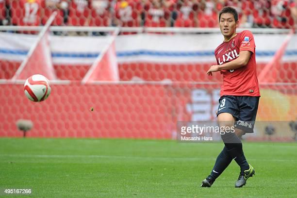 Gen Shoji of Kashima Antlers in action during the JLeague Yamazaki Nabisco Cup final match between Kashima Antlers and Gamba Osaka at Saitama Stadium...