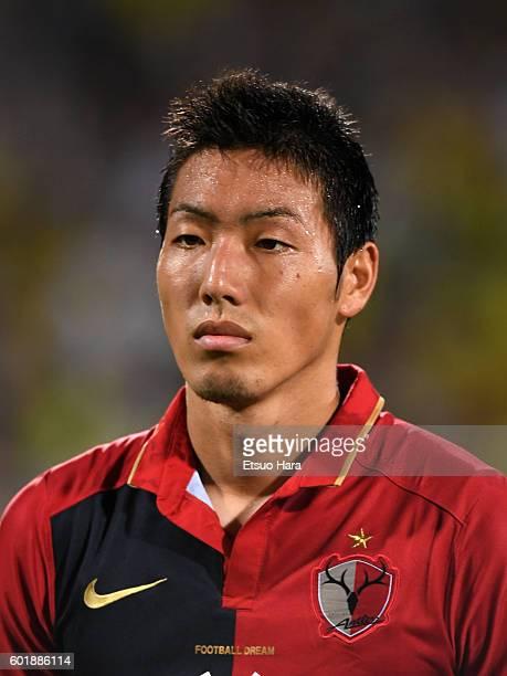 Gen Shoji of Kashima Antlers looks on prior to the JLeague match between Kashiwa Reysol and Kashima Antlers at the Hitachi Kashiwa Soccer Stadium on...