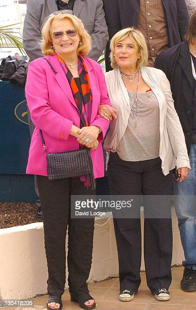 Gena Rowlands and Marianne Faithfull during 2006 Cannes Film Festival 'Paris Je T'Aime' Photo Call at Palais du Festival in Cannes France