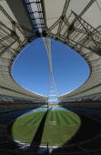 A genaral view of Moses Mabhida Stadium during the Fifa final Inspection tour on March 23 2010 in Durban South Africa