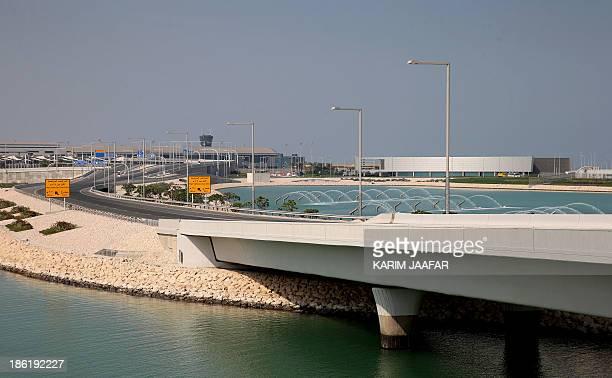 A genaral view taken on October 29 2013 shows the facilities of Hamad International Airport in Doha AFP PHOTO / ALWATAN DOHA / KARIM JAAFAR == QATAR...