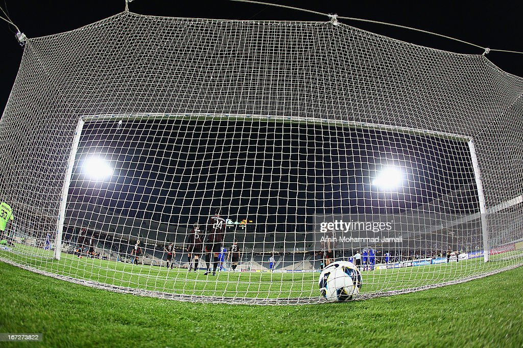 Genarl View of Esteghlal's Goal during the AFC Champions League Group D match between Esteghlal and Al Rayyan at Azadi Stadium on April 23, 2013 in Tehran, Iran.