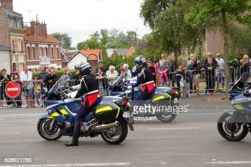 Gendarme during parade in France. : Stock Photo