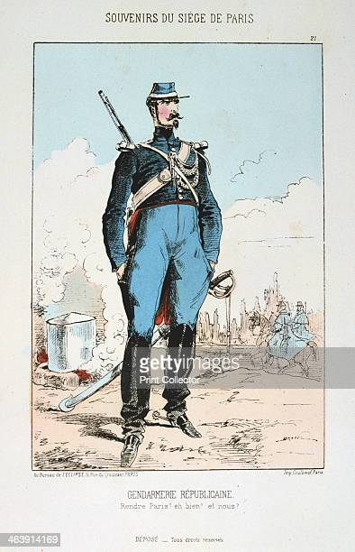 'Gendarmerie Republicaine' Siege of Paris FrancoPrussian war 18701871 After the disastrous defeat of the French at Sedan and the capture of Napoleon...