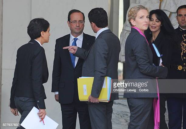 French Minister for Women's Rights and Government Spokesperson Najat VallaudBelkacem French Junior Minister for Justice Delphine Batho French...