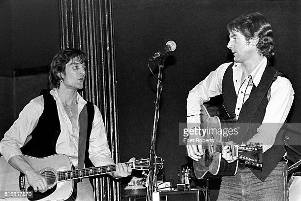 Gene Clark and Roger McGuinn performing at the Bottom Line in New York City on February 23 1979