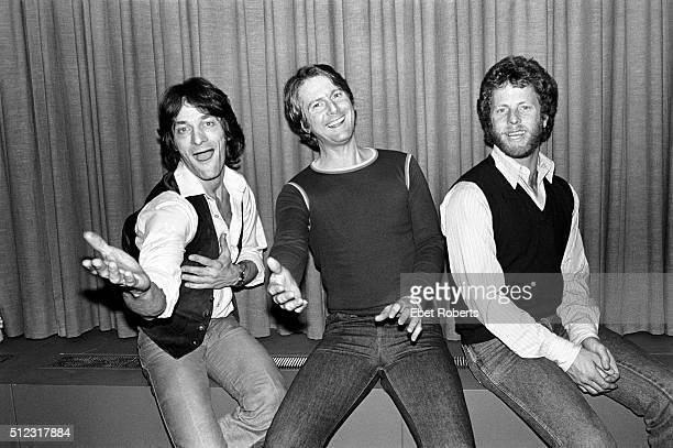 Gene Clark Roger McGuinn and Chris Hillman of The Byrds in New York City on January 25 1979