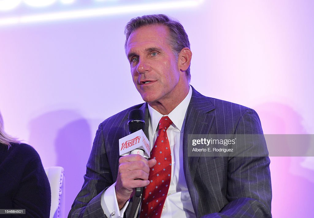 Gene Garlock, Senior Vice President, Global Promotions, Warner Bros speaks onstage during the Global Partnership panel at Variety's 2012 Film Marketing Summit in Association with Stradella Road at InterContinental Hotel on October 24, 2012 in Century City, California.