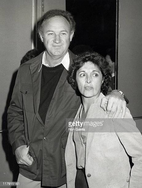 Gene Hackman and Fay Maltese during Avon Tennis Tournament VIP Reception at The Forum in Los Angeles California United States