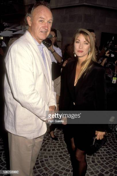 Gene Hackman and Jane Seymour during PCC Celebrity Art Show on September 11 1991 at Stringfellow's Restaurant in Beverly Hills California United...