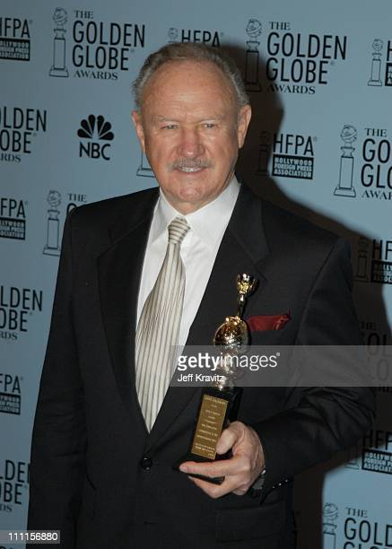 Gene Hackman during Golden Globes Press Room at Beverly Hilton Hotel in Beverly Hills CA United States