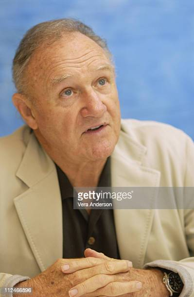 Gene Hackman during 'Runaway Jury' Press Conference with Dustin Hoffman Gene Hackman John Cusack and Rachel Weisz at Wyndham Hotel in New Orleans...