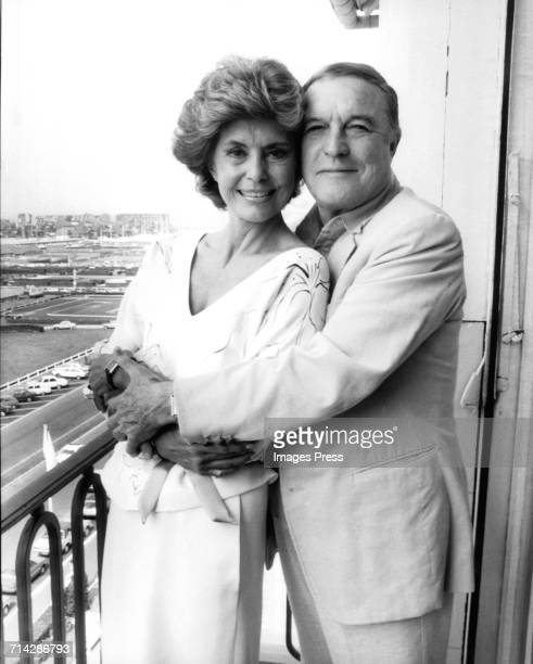 Gene Kelly and Cyd Charisse circa 1982 in Cannes France