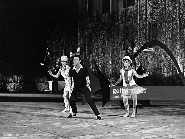 Gene Kelly dancing in the MOMA sculpture garden for an NBCTV special
