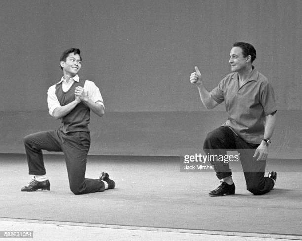 Gene Kelly performing a routine on NBCTV Omnibus on December 21 1958