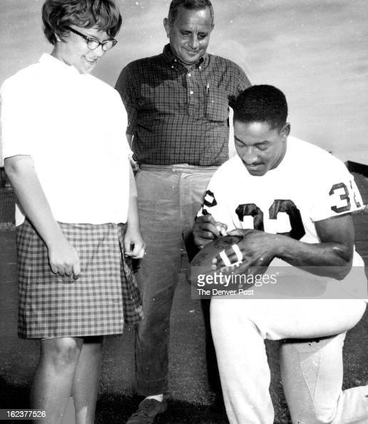 Denver Kickers: OCT 9 1963; SOUVENIR OF ACCURATE KICK; Gene Mingo, Denver