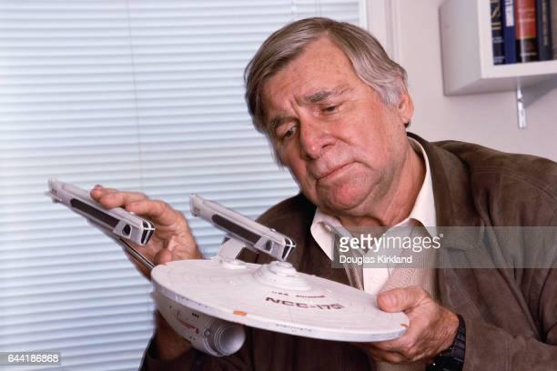 Gene Roddenberry with Model of Starship Enterprise