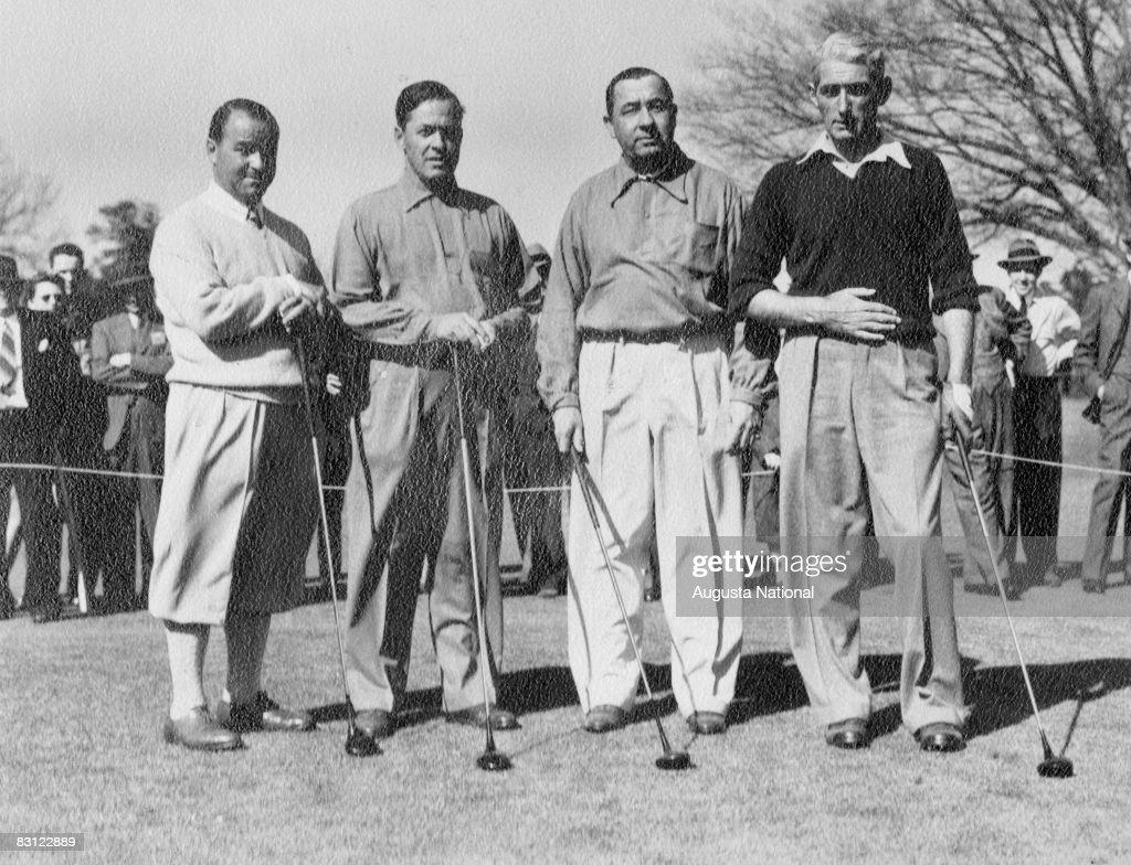 Gene Sarazen Bob Jones Walter Hagen And Tommy Armour During The 1941 Masters Tournament