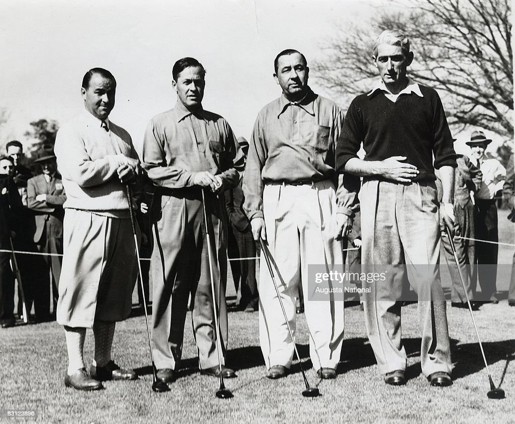 Gene Sarazen Bobby Jones Walter Hagen And Tommy Armour Pose At The Augusta National Golf Club