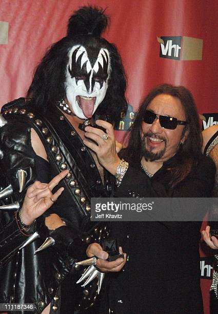 Gene Simmons and Ace Frehley of KISS during 2006 VH1 Rock Honors After Party at Mandalay Bay Hotel and Casino in Las Vegas Nevada United States