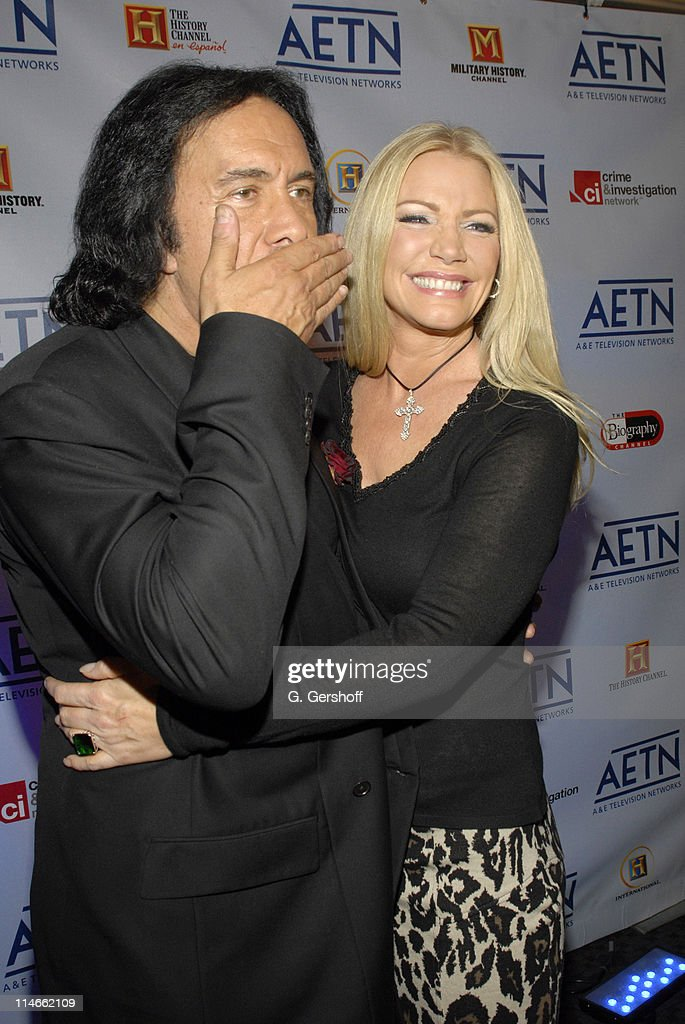 Gene Simmons and Shannon Tweed during AE Unveils Fall 2006 Season Lineup at the AE Network Upfront at Time Warner Center in New York New York United...