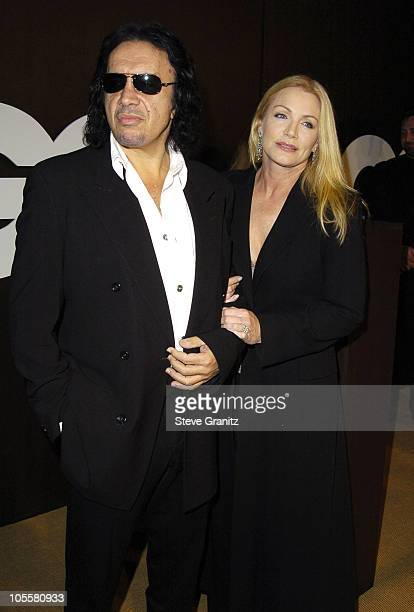 Gene Simmons and Shannon Tweed during GQ Magazine Celebrates its 2004's Men of the Year Arrivals at Lucques Restaurant and Ago Restaurant in Los...