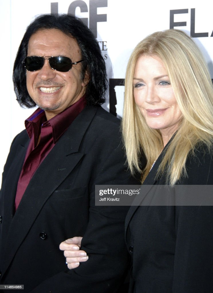 Gene Simmons and Shannon Tweed during 'Rize' Los Angeles Premiere Arrivals at Egyptian Theatre in Hollywood California United States