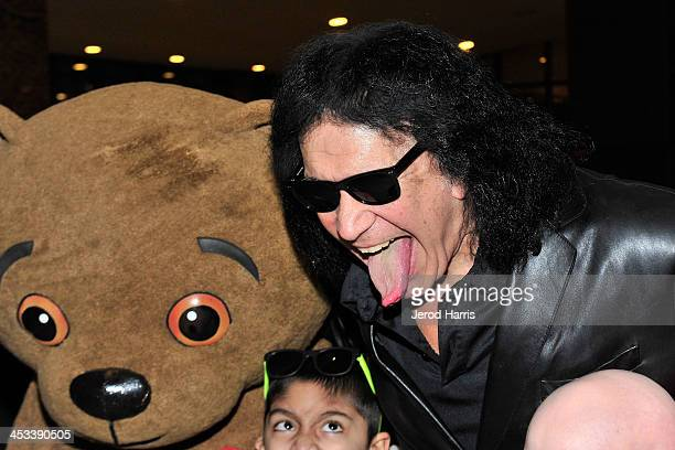 Gene Simmons attends LA KISS Unveil KISSMAS Campaign with Children's Hospital of Orange County at Honda Center on December 3 2013 in Anaheim...