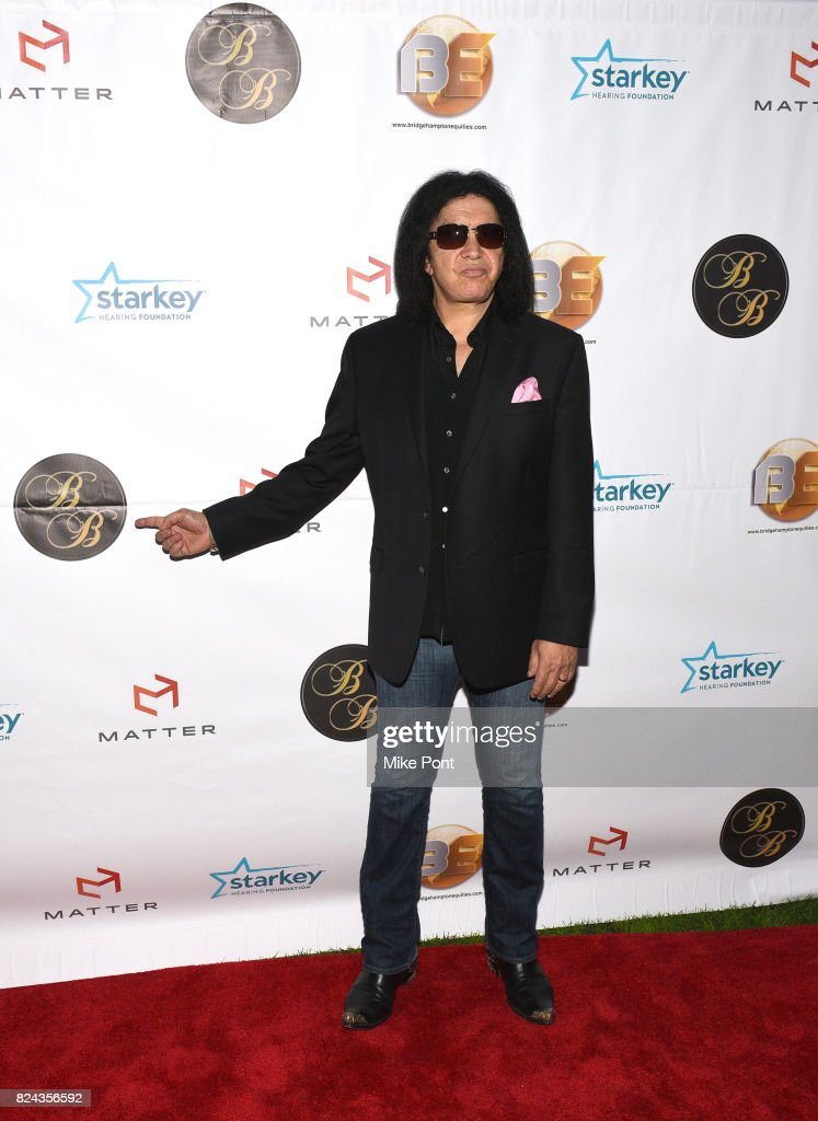 Gene Simmons attends 'The Children Matter', an exclusive charity event benefiting MATTER & The Starkey Hearing Foundation presented by Bridgehampton Benefit at Southampton Arts Center on July 29, 2017 in Southampton, New York.