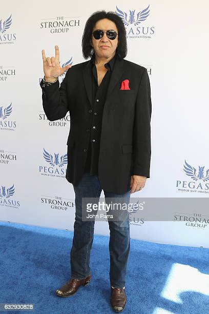 Gene Simmons attends the Pegasus World Cup at Gulfstream Park on January 28 2017 in Hallandale Florida