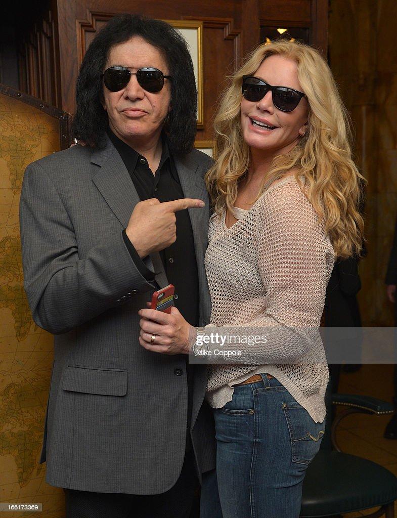 Gene Simmons in Polaroid Plus 0201s and Shannon Tweed in Polaroid Plus 0105s Polarized Sunglasses at the Friar's Club Abbot's Dinner honoring Jack...