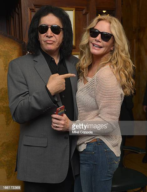 Gene Simmons in Polaroid Plus 0201s and Shannon Tweed in Polaroid Plus 0105s Polarized Sunglasses at the Friar's Club Abbot's Dinner honoring Jack...