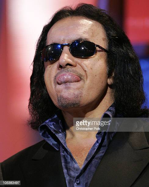 Gene Simmons of KISS during 32nd Annual American Music Awards Day Three Rehearsals at Shrine Auditorium in Hollywood CA United States