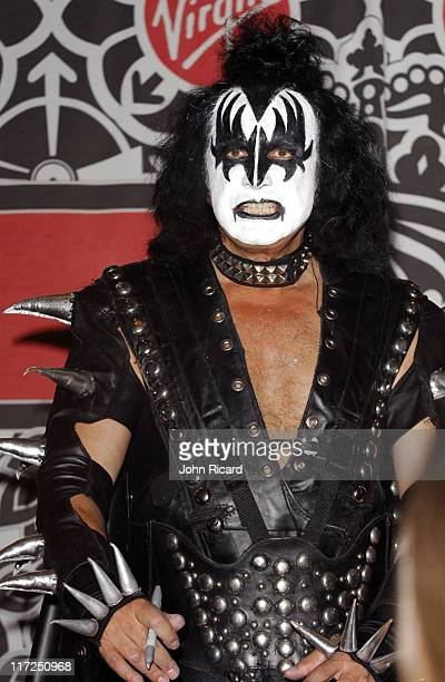 Gene Simmons of KISS during Kissology Volume 1 19741977 DVD Signing at Virgin Megastore with Gene Simmons and Paul Stanley of KISS at Virgin...