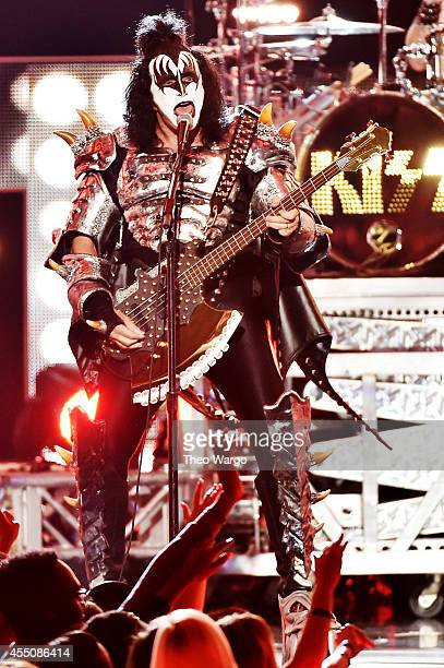 Gene Simmons of KISS performs onstage at Fashion Rocks 2014 presented by Three Lions Entertainment at the Barclays Center of Brooklyn on September 9...