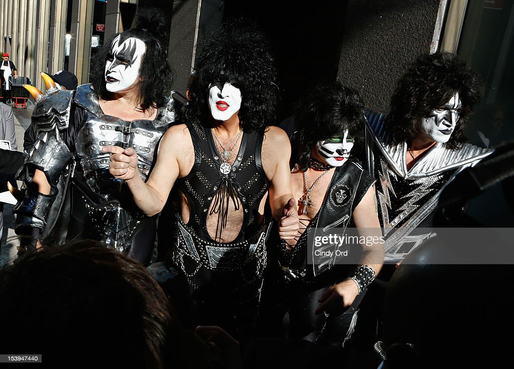 KISS Arrive At SiriusXM Studio For Sirius XM's Town Hall