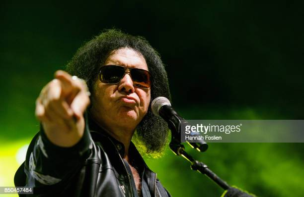 Gene Simmons preforms at The Children Matter Benefit Concert Featuring Gene Simmons Ace Frehley Don Felder And Cheap Trick on September 20 2017 at...