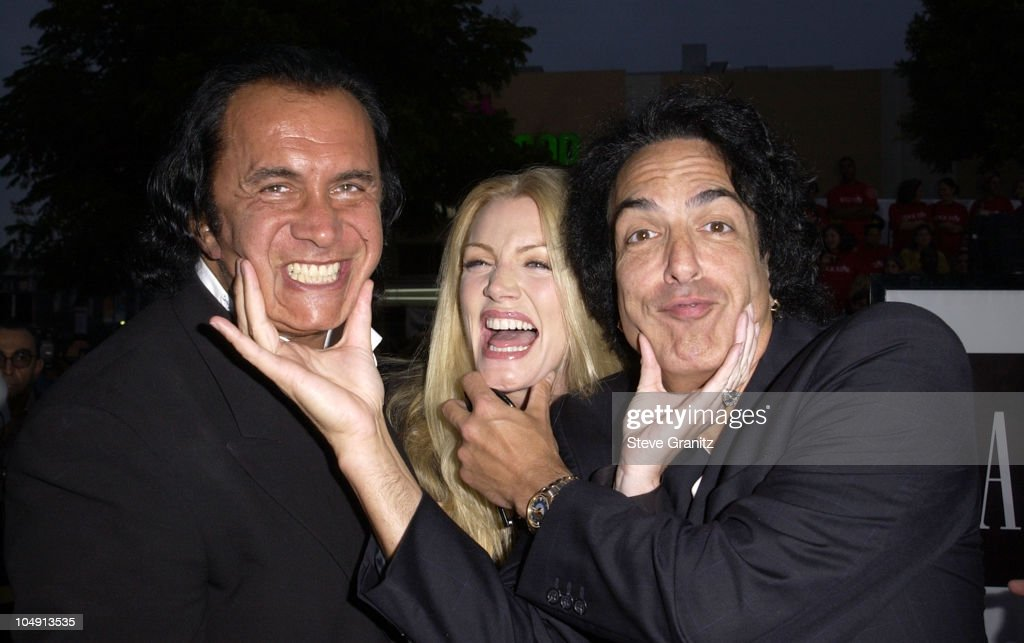Gene Simmons Shannon Tweed and Paul Stanley during 'Rock Star' Los Angeles Premiere at Mann Village in Westwood California United States