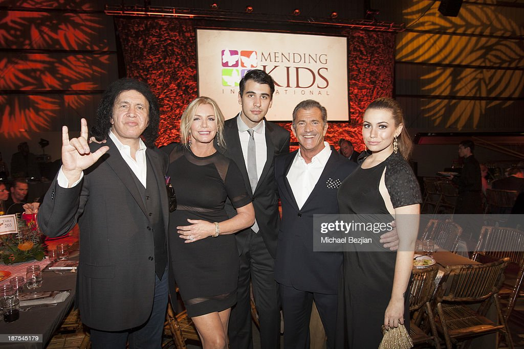 Gene Simmons Shannon Tweed Nick Simmons Mel Gibson and Sophie Simmons attend Mending Kids International's Wings Around The World African Safari Gala...